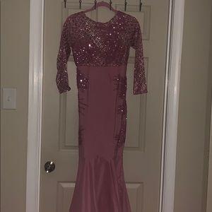 Custom pink dress